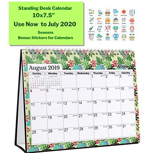 Larger Standing Desk Calendar 2019-2020 (Seasons) 10x7.5