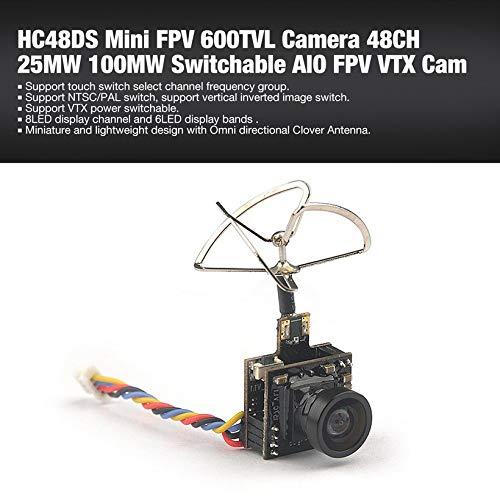 Wikiwand HC48DS Mini FPV 600TVL Camera 48CH 25MW 100MW Switchable AIO FPV VTX Cam by Wikiwand (Image #2)