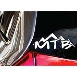 MTB MTN Car Decal_ Mountain Bike Downhill Racer DH Vinyl Sticker from Luke Duke Decals