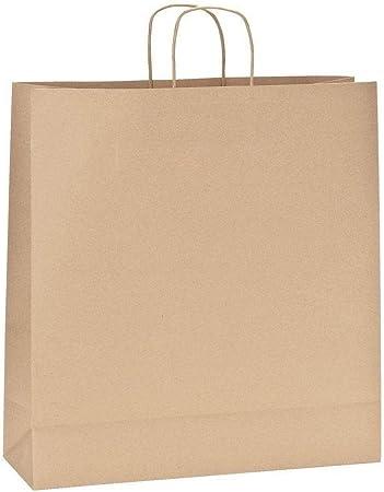 Yearol K08 Bolsas de papel kraft grandes marron con asas. 35 * 14 ...
