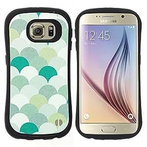 """Hypernova Slim Fit Dual Barniz Protector Caso Case Funda Para Samsung Galaxy S6 [Patrón trullo Verde Blanco Pastel""""]"""