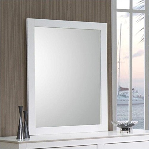 Furniture Youth Bedroom Collection (Selena Rectangular Dresser Mirror White)
