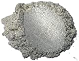 42g/1.5oz'Diamond Silver Pearl' Mica Powder Pigment (Epoxy,Resin,Soap,Plastidip) Black Diamond Pigments