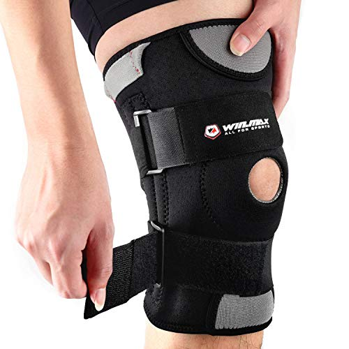 Knee Brace,Adjustable Knee Support,Knee Pads Open-Patella Stabilizer Anti Slip with High Grade Quality Breathable Neoprene for Any Sport Protection,Recovery and Pain Relief (XXL)
