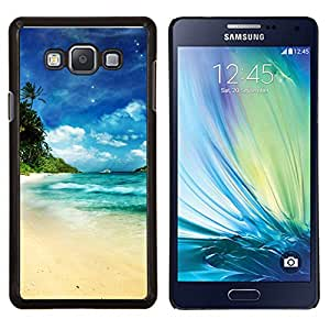 Qstar Arte & diseño plástico duro Fundas Cover Cubre Hard Case Cover para Samsung Galaxy A7 A7000 (Dream Island Paradise)
