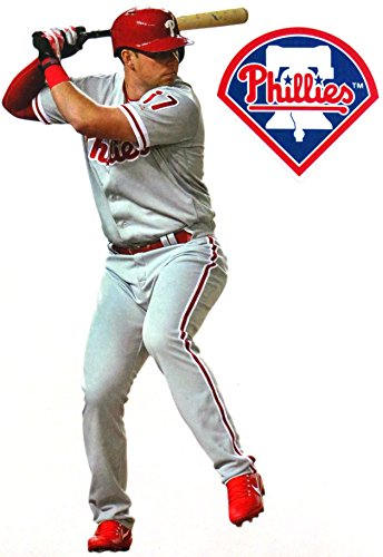 FATHEAD Rhys Hoskins Mini Graphic Philadelphia Phillies Logo Official MLB Vinyl Wall Graphic 7