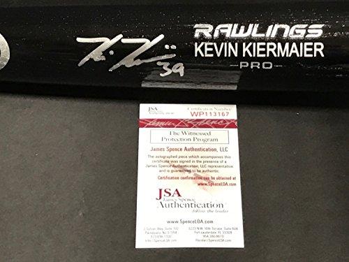 Kevin Kiermaier Tampa Rays Autographed Signed Black Baseball Bat JSA WITNESS COA