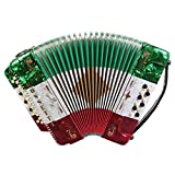 Rossetti 3412 34 Button 12 Bass 3 Switch Accordion (Tri Color - RWG)