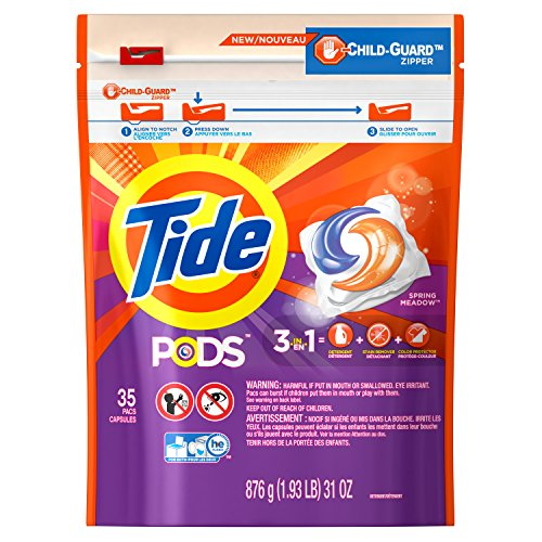 Tide Pods Laundry Detergent, Spring Meadow, 35 Count