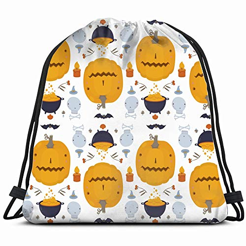 Halloween Great Feast Autumn Holidays Drawstring Backpack Gym Sack Lightweight Bag Water Resistant Gym Backpack For Women&Men For Sports,Travelling,Hiking,Camping,Shopping Yoga]()