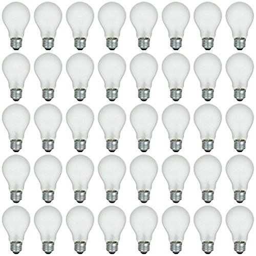 Incandescent Rough - 48 Pack of 60 Watt Long Life Incandescent Light Bulb, 130 Volt, Warm White, 3200K, Frost Finish, Medium Base, Rough Service - Vibration Resistant: Classic & Beautiful Natural Light Appearance 100 CRI