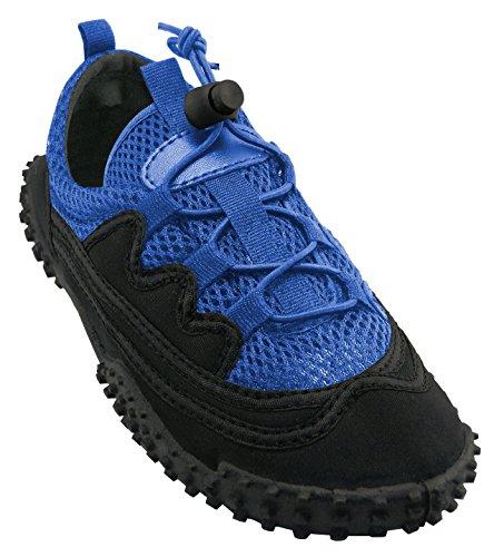 Cambridge Select Bambini Slip-on Mesh Quick Dry Stretch Elastico In Pizzo Antiscivolo Water Shoe (piccolo / Grande Bambino) Royal Blue