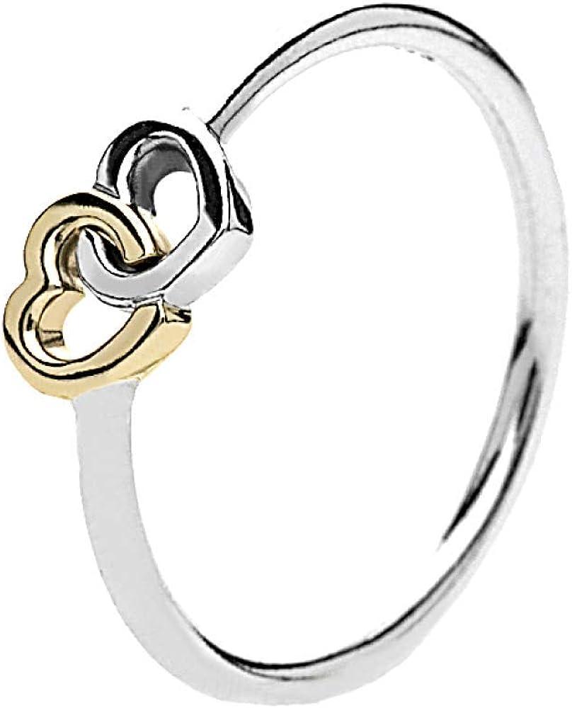 anello due cuori pandora