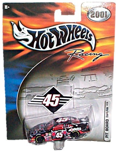 Hot Wheels Racing (NASCAR) - 2001 - PIT BOARD - Charity Ride - Kyle Petty - Dodge Intrepid #45 Replica (Black/Red)