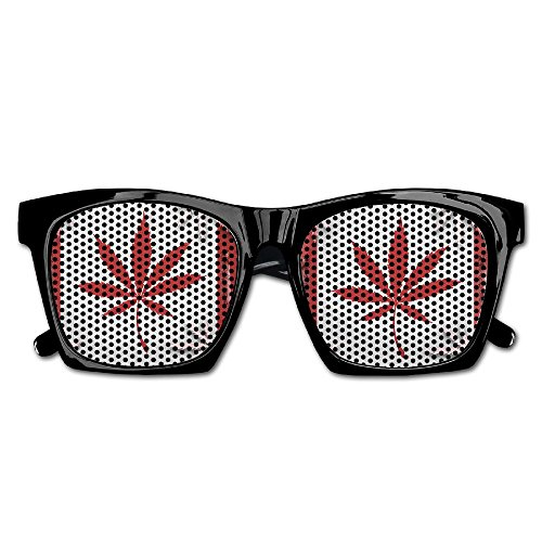 Cheap Costumes Canada (Xing Stars Colorful Summer Unisex Canada Cannabis Weed Fashion Party Costume Sunglasses)