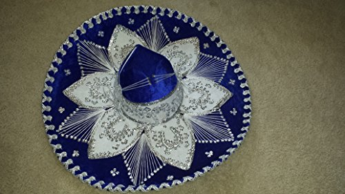 Sombrero Charro (Royal Blue and Gold Mariachi Sombrero)