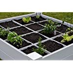 """Vita Gardens VT17104 Vita Bed with GRO 48in x 7.5in Garden with Grid, 7.38"""" H, White 5 Available in classic white Can combine more than one unit Grid system increases yield because plants can be planted closer together"""