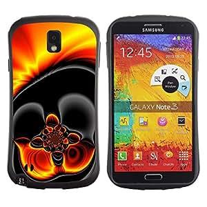 """Hypernova Slim Fit Dual Barniz Protector Caso Case Funda Para Samsung Note 3 [El oro caliente de la lava Dark Fire""""]"""