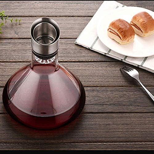 Decanter Aerator Wijn Breather karaf met Schenktuit Deksel, met de hand geblazen glas, wijn Accessary for Gift (1500 ml) Xuan - de moeite waard 8bayfa
