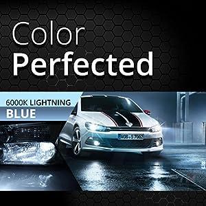 Bolt AC 55w Hi-Power H11 (H8, H9) HID Kit - Relay Bundle - All Bulb Sizes and Colors - 2 Yr Warranty [6000K Lightning Blue Xenon Light]