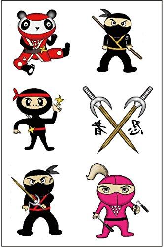 Premium Ninja Tattoos, Karate Party Favors, Temporary Tattoo
