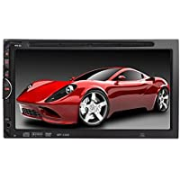 TKJMO 7 Double 2 DIN Car DVD CD Video Player Bluetooth Digital Touch Screen Car Stereo Radio Car FM Radio USB SD and Bluetooth