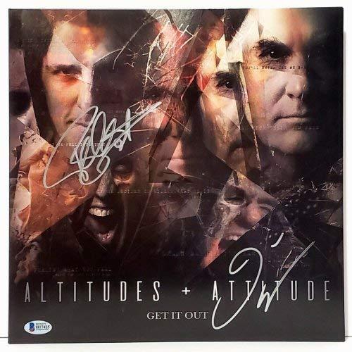 Frank Bello and David Ellefson Megadeth Autographed Signed Memorabilia Altitude Attitude Album Bas 2