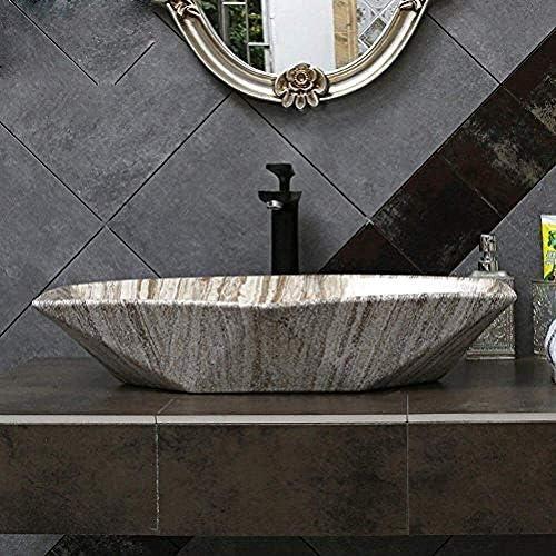 ヨーロピアンスタイルの洗面化粧台洗面上記カウンター盆地の上カウンター盆地アート流域の大型洗面(63X42X11Cm)バスルームシンク