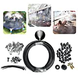 "Garden Land Outdoor Misting Cooling System 33.3FT (10M) Misting Line + 10 Brass Mist Nozzles + a PVC connector(3/4"")+a PVC Socket(1/2"") for Patio Garden Greenhouse Trampoline for Waterpark"