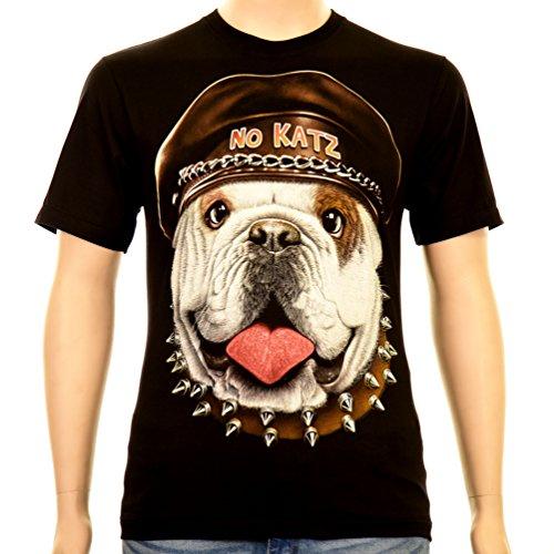 No Katz Bulldog - Rock Eagle T-Shirt Glow in the Dark Smile Hund Dog