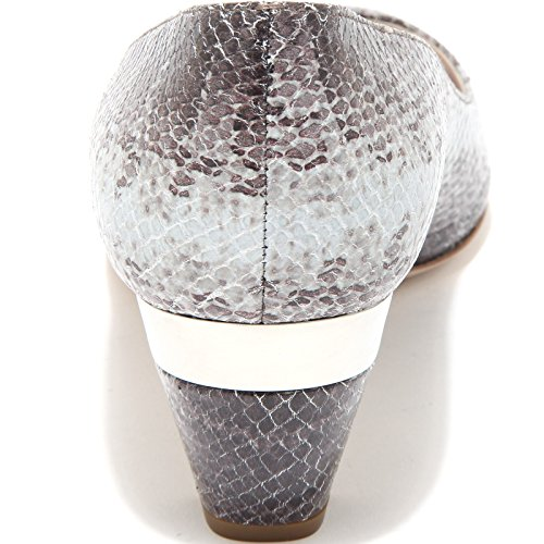 VIT shoes ST MIU 86283 1 scarpa AYERS MIU grigio marrone women donna decollete spuntata yUqvrqTI