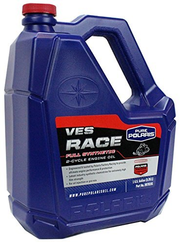 Race Oil (Polaris Engineered VES Race Synthetic 2-cycle Snowmobile Engine Oil 1 Gallon Bottle)