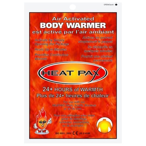 HEAT PAX BODY WARMERS - Air Activated - 24+ Hour - BOX OF 40 by TechNiche International
