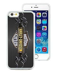 New Fashion Custom Designed Cover Case For iPhone 6 4.7 Inch TPU With harley davidson logo WhitePhone Case