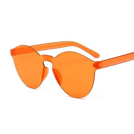 Yangjing-hl Espejo Redondo Gafas de Sol Mujer Marca Original ...
