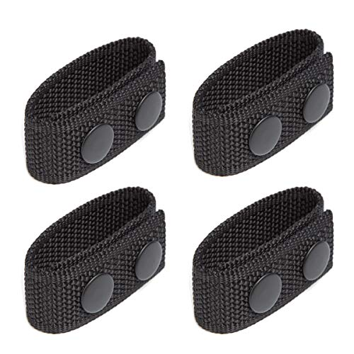 "LUITON Duty Belt Keeper with Double Snaps for 2¼"" Wide Belt Security Tactical Belt Police Military Equipment Accessories (Set of 4)"