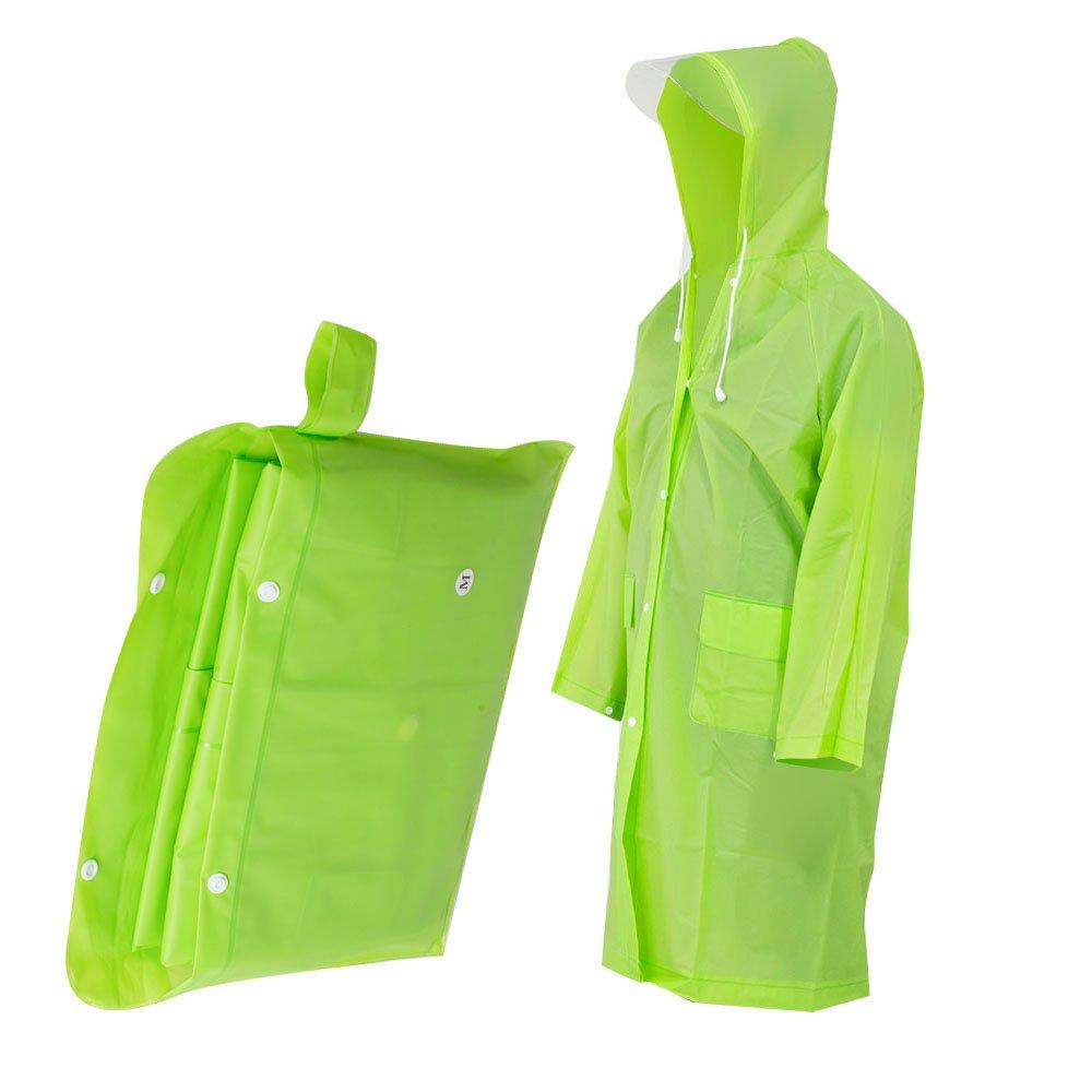 Finlon 透明 レインコート 軽量 持ち運び簡単 ポンチョ 風 フード付き ジャケット レインコート ロング使用 レインコート Medium  B07CY1LCRF