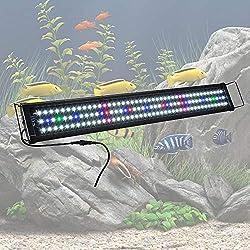 "YesHom 129 Multi-Color LED Aquarium Light Extendable Full Spectrum Lamp for 36""-43inches Fish Tank"