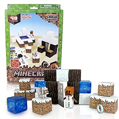 Minecraft Papercraft Snow Set New