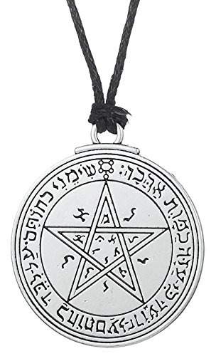 Dawapara Vintage Pendant Talisman Amulet Pentacle Seal of Venus of King Solomon Necklace Jewelry for Women Men (cord chain)