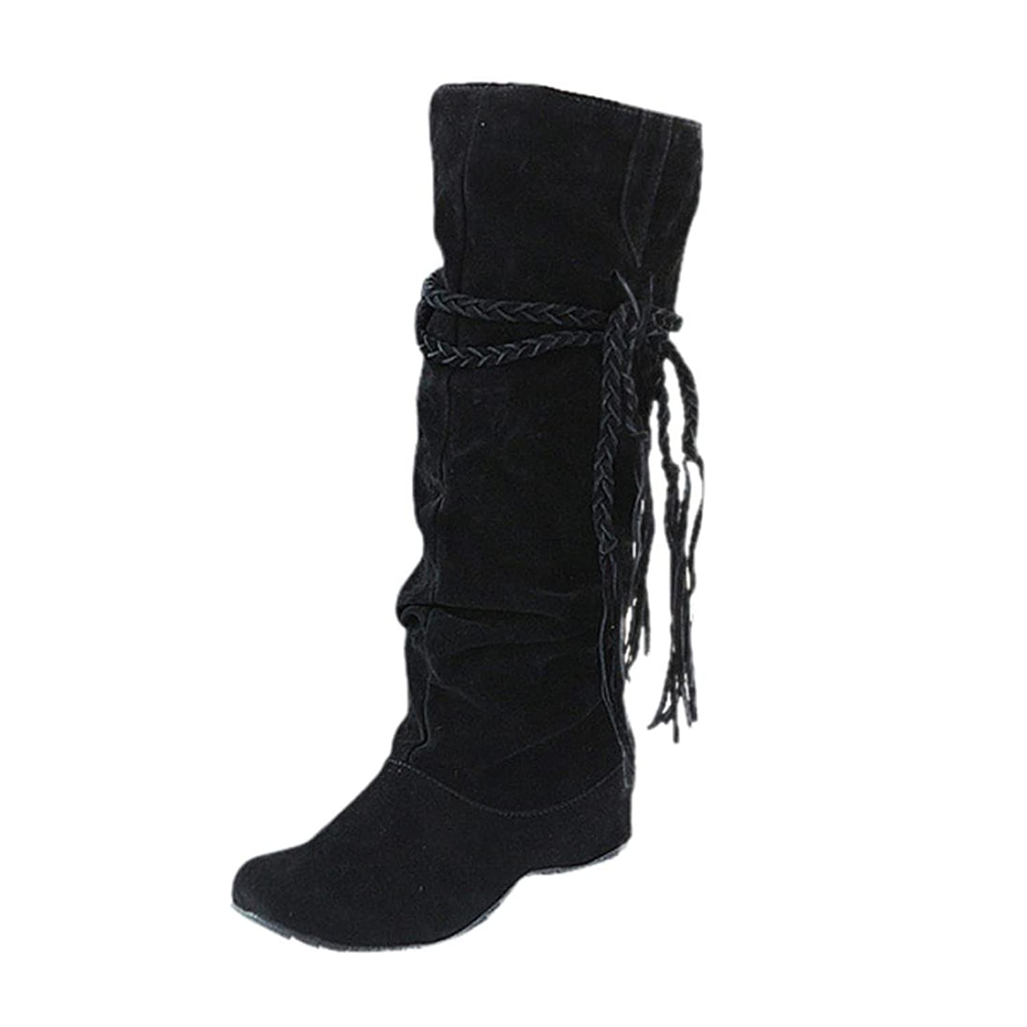 Amiley Hot Sale Women Heighten Platforms Thigh High Tessals Boots Motorcycle Outdoor Shoes