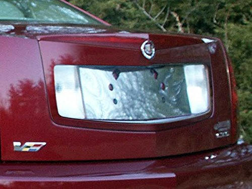 QAA FITS CTS 2005-2007 CADILLAC (1 Pc: Stainless Steel License Plate Bezel, 4-door) LP45250 - License Plate Bezel
