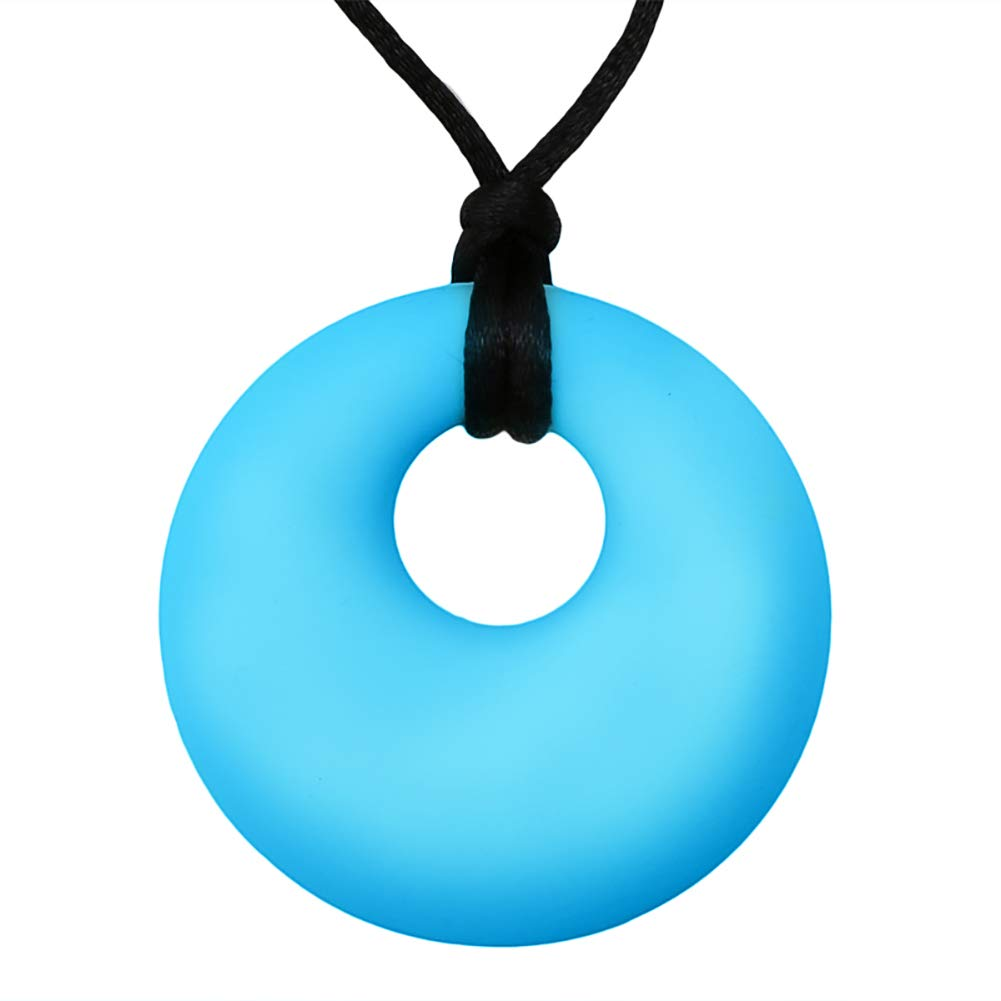 Silicone beads baby teething chewable necklace feather pendant baby teether BS