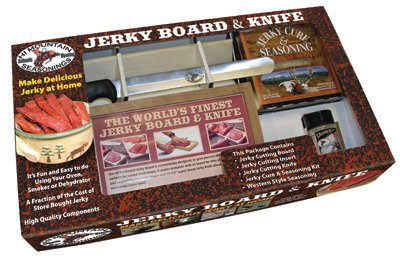 (Hi Mountain Seasonings - Jerky Cutting Board Set - Includes Original Jerky)