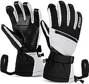 Unigear Ski Gloves Waterproof Touchscreen Snowboard Gloves, Warm Winter Snow Gloves for Cold Weather, Fits Bot