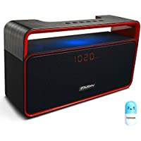 Portable Wireless Bluetooth Stereo Speaker with 10W Powerful Sound Enhanced Bass Surround Subwoofer FM Radio LED Display