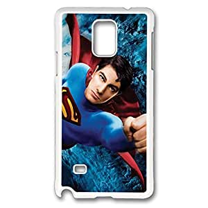 Samsung Galaxy Note 4 Case, Note 4 Case - Tough Armor Case Cover for Galaxy Note 4 Case Superman Returns Slim Fit White Hard Case Bumper for Samsung Galaxy Note 4