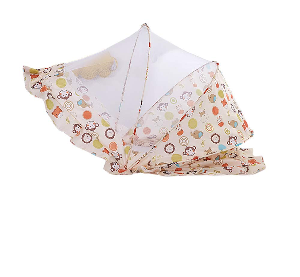 Crib Mosquito Net/Folding Cart Child/Insect Mosquito/Car Portable/Sunscreen Universal Outdoor Travel, Yellow, 1106065cm