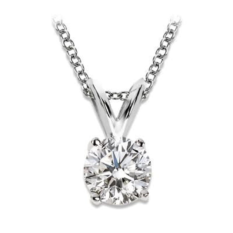 Diamond solitaire pendant necklace 1/4 carat premium quality diamonds (9ct White Gold) ZsJr2