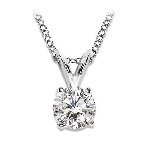 foto ufficiali 46cab ac179 Collana con diamante solitario,1/4 carati, qualità premium ...